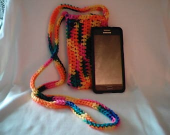 Crochet Cross Body Cell Phone Pouch Bikini