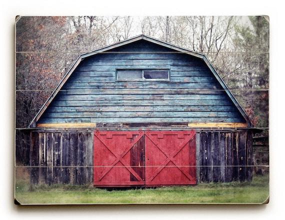 Wood Plank Wall Art old barn photo wood plank wall art rustic home decor barn