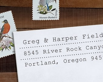 Custom Address Stamp, Return Address Stamp, Wedding address stamp, Address Stamp, Self inking or Eco mount stamp - Fields