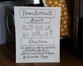 Illustrated Recipe Print