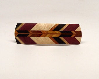 Wooden Hair Barrette, hair barrette, french clip, All Herringbone P1
