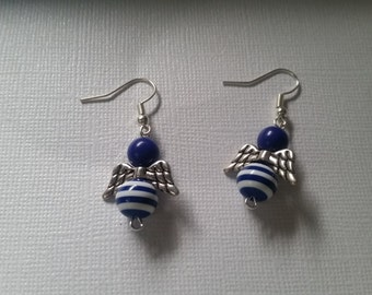 nautical angel earrings