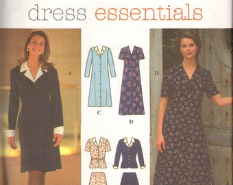 Simplicity 9758 Dress Essentials size K 8 10 12 One or Two Piece Dress Button Front uncut pattern