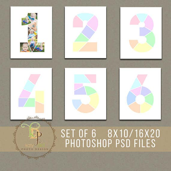 Set Of  Year Birthday Collage Templates X  X Print Ratios