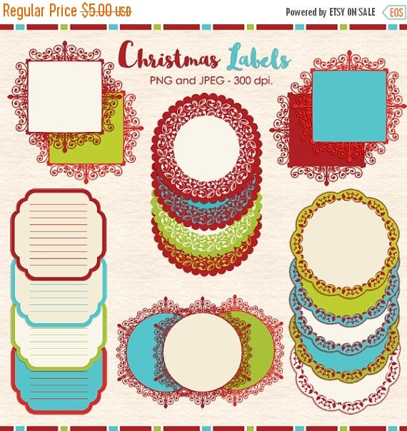 65 % OFF SALE Christmas frames clip art, Christmas label clip art, Christmas digital printable tags, lace clip art, lace frame, doily clip a