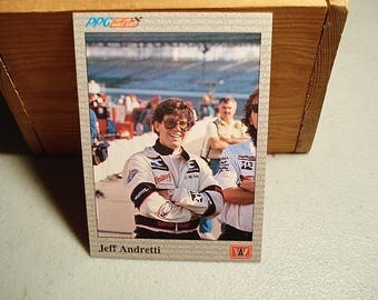 Jeff Andretti, Racing Card, Andretti, Racing Card, Vintage NASCAR, Racing Collectible, Andretti, Car Racing, Vintage NASCAR, Man Cave, Dad