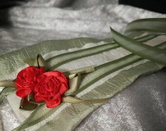 SD Bjd waloli obi red rose and spring cream