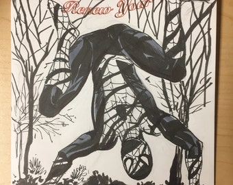 Spider-man sketch cover by Steve Lieber