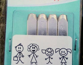 Metal Stamps Family set of 4! Super cute!