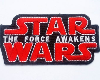 STAR WARS The force awakens Movie Logo TAG Classic Patch Badge