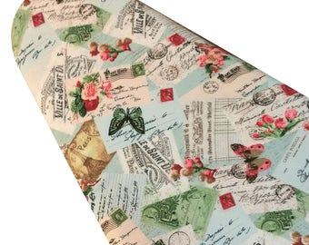 PADDED Ironing Board Cover Custom ironing board cover Designer farmhouse French collage