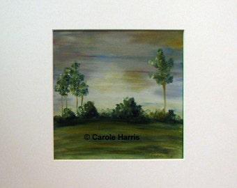 Landscape Oil Painting on paper Carole Harris