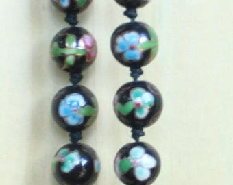 Vintage Chinese Porcelain Bead Necklace