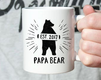 Fathers Day Gift from Baby New Dad Gift Fathers Day Gift for Papa Pregnancy Announcement to Husband Pregnancy Reveal Husband Papa Bear Mug