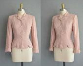 r e s e r v e d...40s new pink wasp waist vintage jacket. 40s jacket /  vintage 1940s jacket