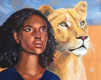 Lioness | Giclee Canvas Print