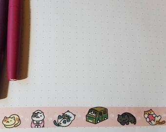 Neko Atsume Cats 30 in Washi Tape Sample