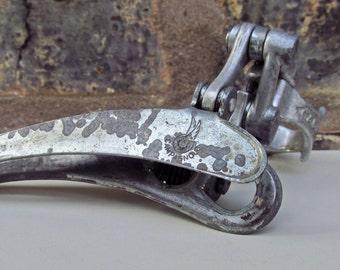 Vintage Campagnolo Derailleur - Nuovo Valentino Front Derailleur - Flying Wheel Logo - Made in Italy - Vintage Bicycle Parts - Bike Parts