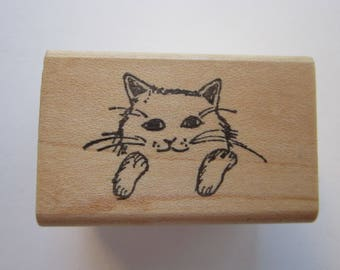 vintage rubber stamp - CAT stamp - Lisa Hindsley Stampourri