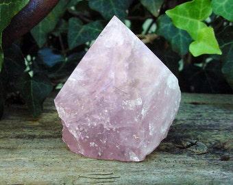 Natural Rose Quartz Point  piece Love Stone, Specimen, Lapidary, Collectible 14T453 A