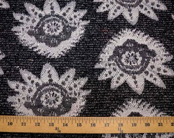 Black Damask Fabric