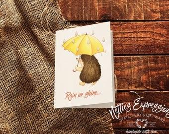 Rain or shine you're a friend of mine,Friendship/Birthday Card *Ready to Ship,Greeting Card,Friendship Card,Birthday Card,Printed Card