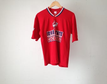 vintage IOWA STATE CYCLONES 90s jersey college ball size small vintage v neck shirt t-shirt
