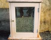 Wooden Medicine Cabinet / Beveled Mirror