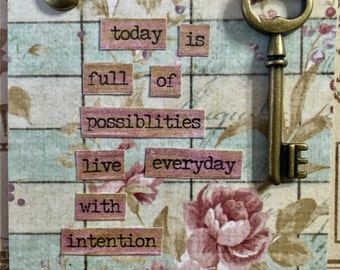 Possibilities  A Conceptual AcEo  Mixed Media Victorian Cards  ACEO Alteredhead On Etsy Artwork ATC Original Handmade Design On Etsy Artwork