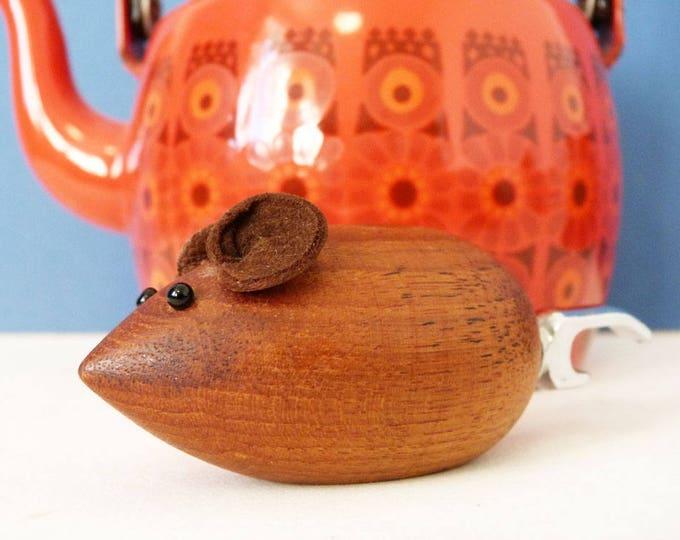 1960's Danish Teak Wooden mouse bottle opener