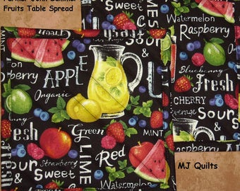 """Pick a Print-Coffee-Summer Fruit- Fresh Cooking- of 2 (8"""") Quilted-Handmade-Insulated-Hot Pads-Pot Holders-Made in USA by MJ Quilts"""