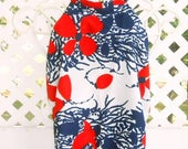 Floral Print 70's Halter Top Vintage Halter Top Summer Shirts and Tops Vintage Clothing