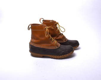 LL Bean Maine Hunting Shoe Lace Up Duck Boots