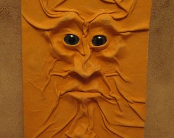 """Grichels leather deluxe large notebook/journal - """"Sprortify"""" 29361 - soft tangerine with steel blue slit pupil shark eyes"""
