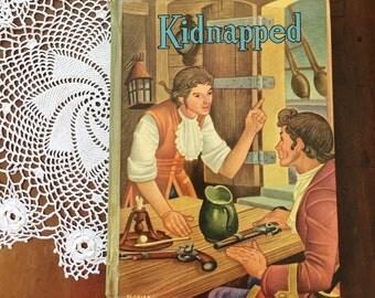 Vintage Book Kidnapped by Robert Louis Stevenson Whitman Boys Room Children's Decor Pirates