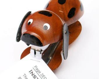 Wooden Dog Stapler