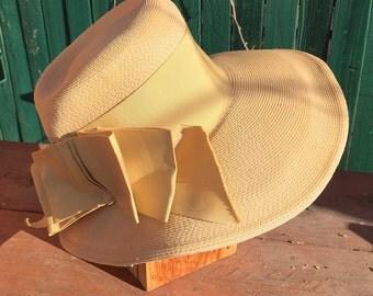 Vintage 60s -  GENE DORIS Italian Straw Hat