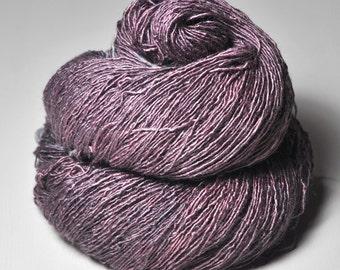 Withered magnolia OOAK - Tussah Silk Fingering Yarn