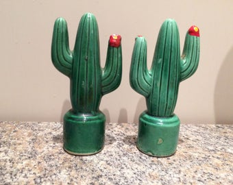 Salt and  Pepper shakers, Cactus, vintage ,