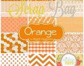 Orange -  Scrap Bag Scraps-- Scrap Bag Quilt Fabric