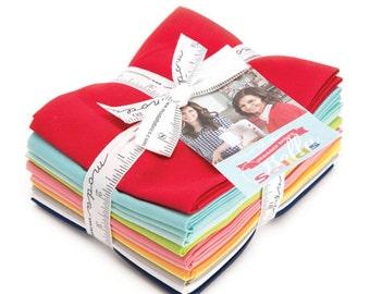 "Handmade - Solids - Fat Quarter Bundle - 12 - 18""x21"" Cuts - Bonnie and Camille - Moda Quilt Fabric"