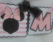 Minnie Mouse Disney Happy Birthday and Name Banner