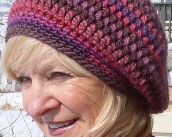 Slouchy hat women's fashion women's crochet winter hat bohemian accessories