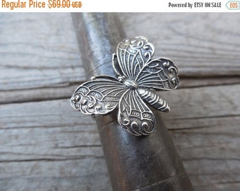 ON SALE Butterfly ring handmade in sterling silver