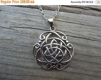 ON SALE Celtic necklace handmade in sterling silver