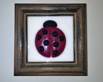 Lady Bug Wooden Jewelry Box Art