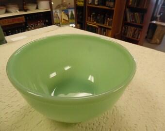Vintage jadite fire king bowl, jadite bowl, fire king mixing bowl, jadite mixing bowl