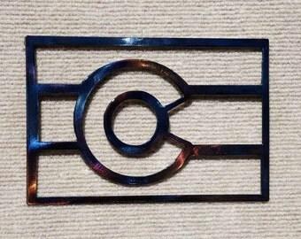 "Colorado State Flag Metal Art - 8"""
