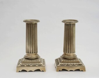 Bronze candle holder, Brass candlesticks, French Antique bronze decor, Vintage table centerpiece.