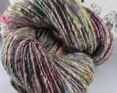 Handspun Art Yarn Thick and Thin Single Sheeping Beauties 'Coat of Many Colors'